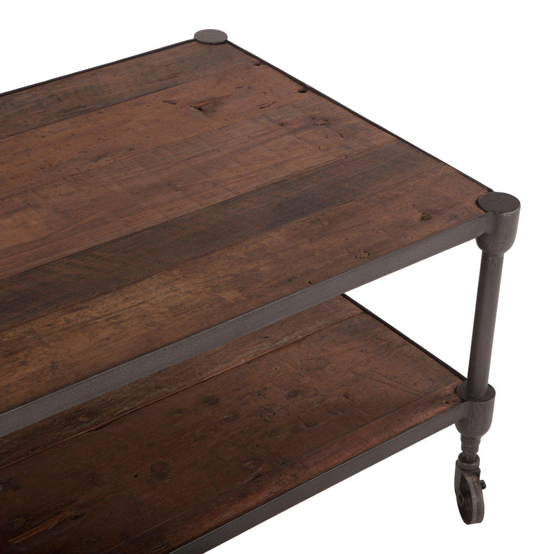 Paxton Rustic Industrial Coffee Table