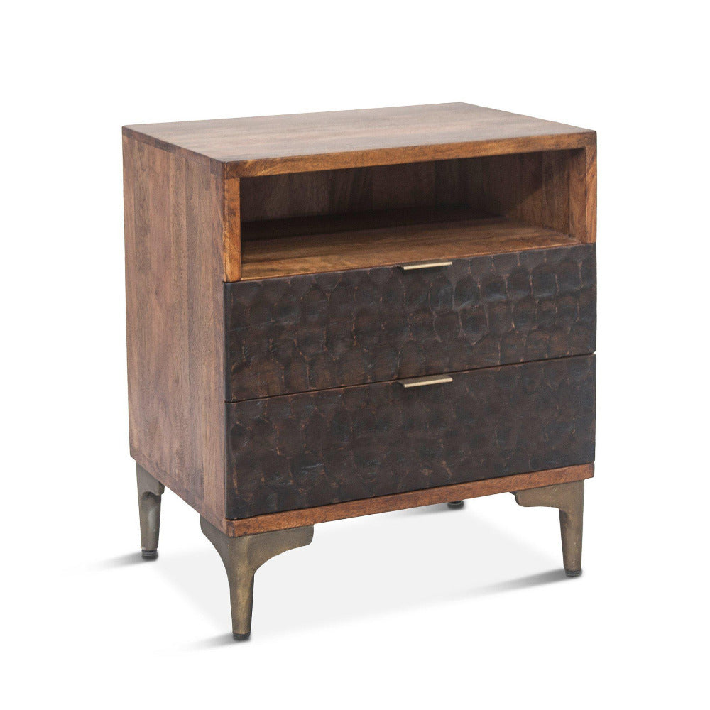 Vallarta 24-Inch Two Tone Mango Wood Night Chest