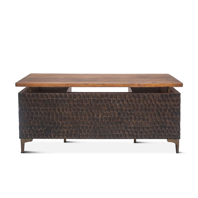 Vallarta 66-Inch Two Tone Mango Wood Desk