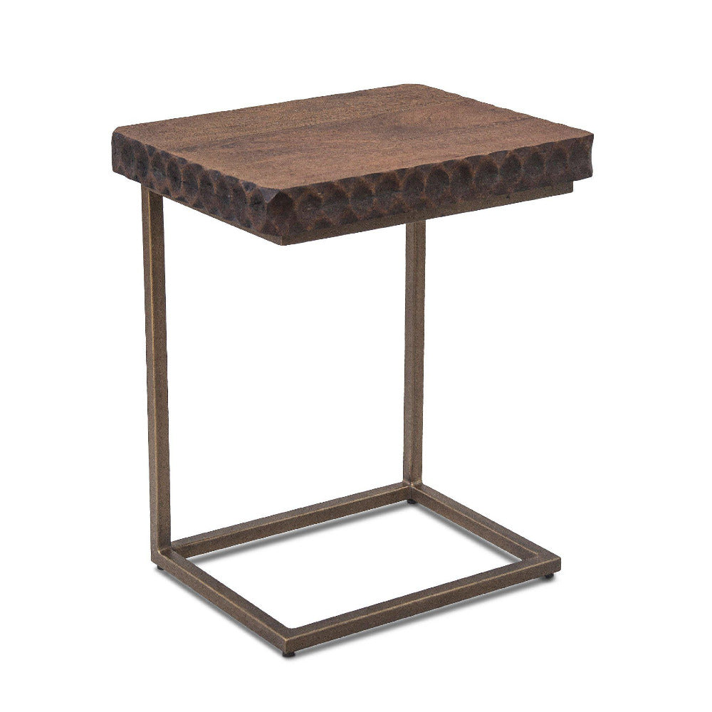 Vallarta Two Tone Mango Wood Modern Side Table