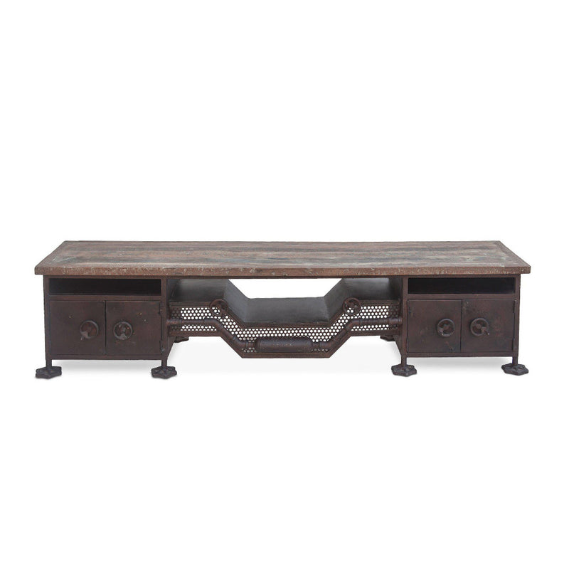 Welles 74-Inch Industrial Iron Low Sideboard