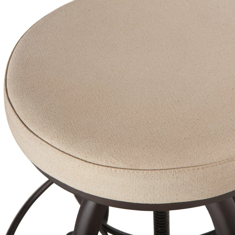 Welles Adjustable Canvas Seat Stool