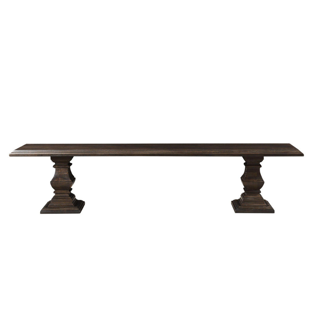 Toulon Vintage Brown Dining Bench
