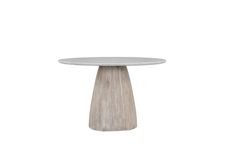Palm Desert Marble Table with Modern Mango Wood