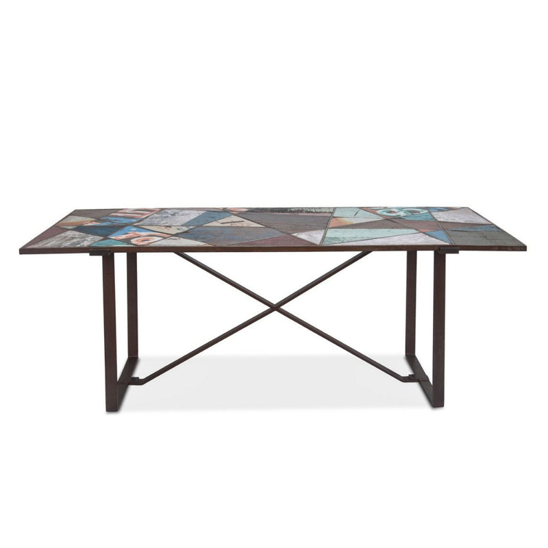 Sterling Modern Panel Dining Table - World Interiors
