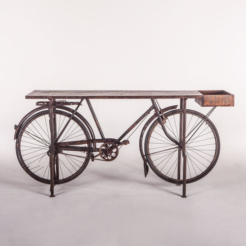 Industrial Salvage Bike Console Table