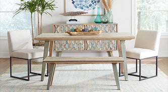 Cordoba dining collection with rebel dining chairs