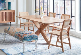 Stockholm dining collection and Algiers bench