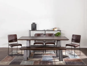 Augusta dining table and bench with Melbourne dining chairs