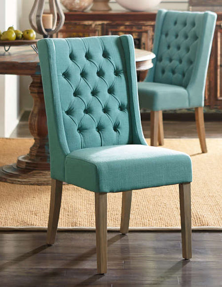 Upholstered Linen Chair - Chloe Contemporary Dining Chair - World Interiors