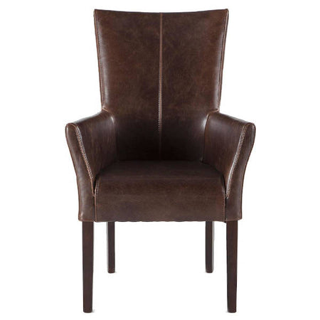 bi-cast leather dining chair - world interiors