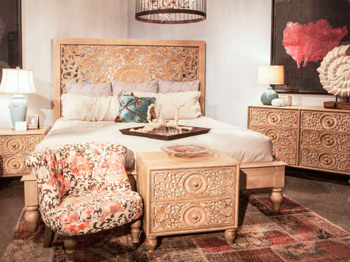 solid wood bedroom style