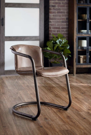 top grain leather upholstered chairs - world Interiors