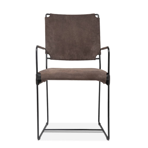 suede upholstered dining chair - world Interiors