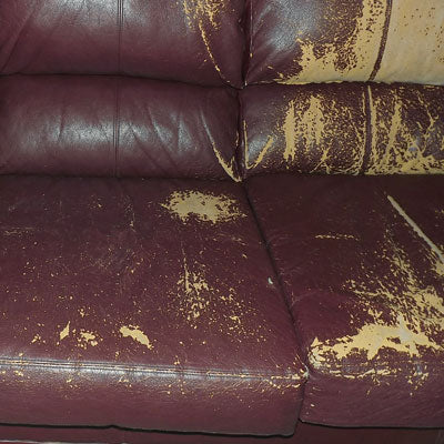 bonded leather peeling example