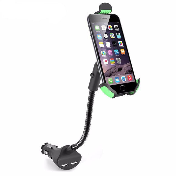 Car Charger Phone Mount w/ Neck