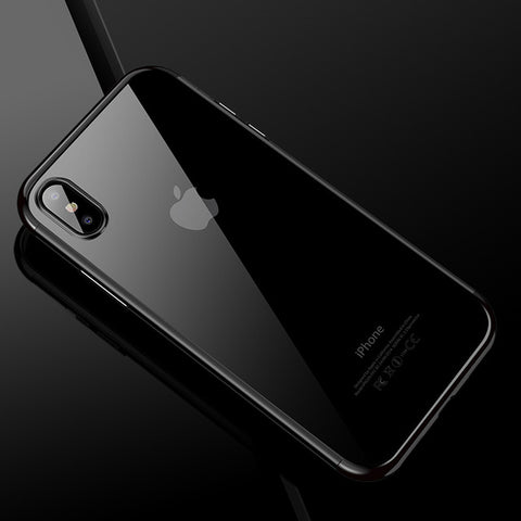 iPhone X Clear Case w/ Color Accent