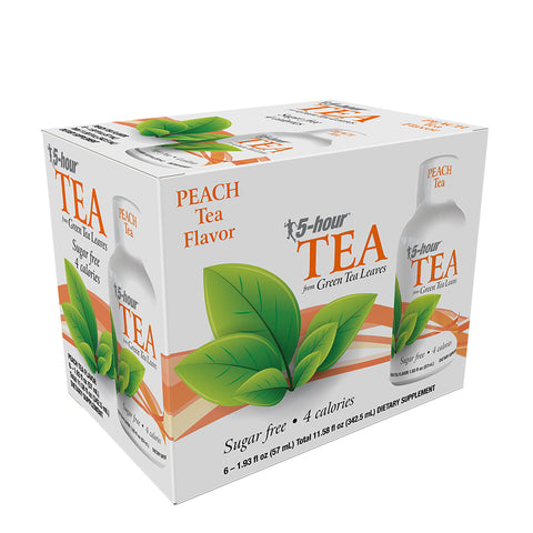 5-hour™ Green TEA – Peach Tea 6-Packs