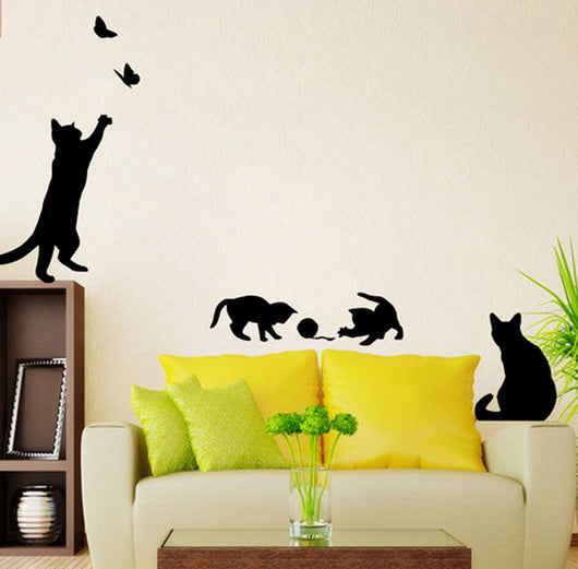 Playing Cats Wall Stickers – Cool Catitude