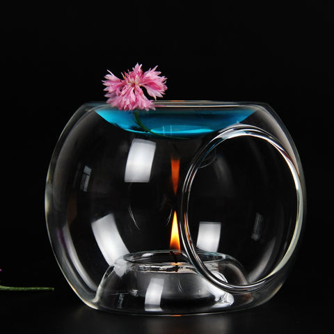 Glass Oil / Candle Aromatherapy Lamp