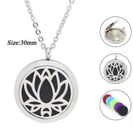 Lotus Flower Essential Oil - Aromatherapy Pendant - 2 Styles & 2 Sizes
