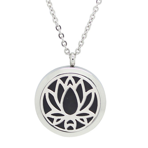 Lotus flower essential oil aromatherapy pendant 2 styles 2 lotus flower essential oil aromatherapy pendant 2 styles 2 sizes aloadofball Image collections