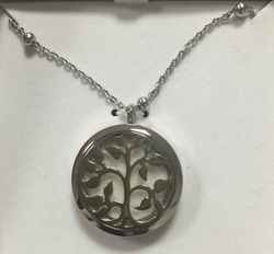 AromaTherapy Tree of Life Essential Oil Diffuser Pendant & Necklace