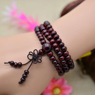 Natural Sandalwood Buddhist Meditation Bead Bracelets