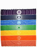 7 Chakra Colored Tapestry/Mat Rainbow Stripes