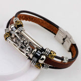 Vintage Dragon Leather Bracelet