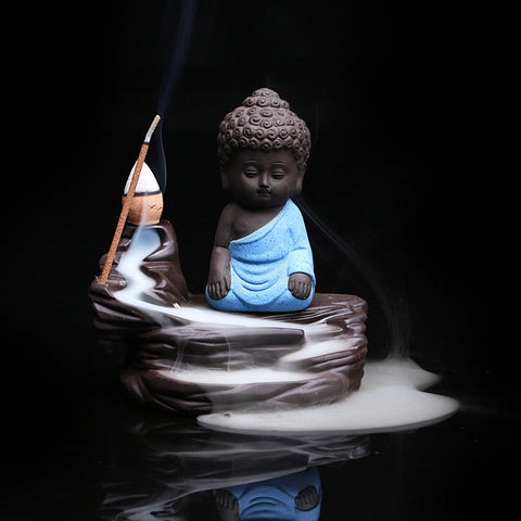 Buddha and Kung Fu Monk Incense Burners
