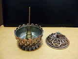 Mini Tibetan Copper Lotus Incense Burner