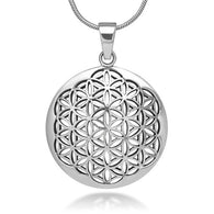 Flower of Life Mandala Sacred Geometry Pendant Necklace