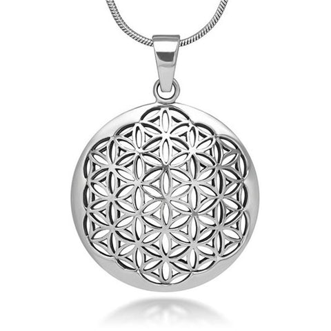 Flower of life mandala sacred geometry pendant necklace the flower of life mandala sacred geometry pendant necklace aloadofball Gallery