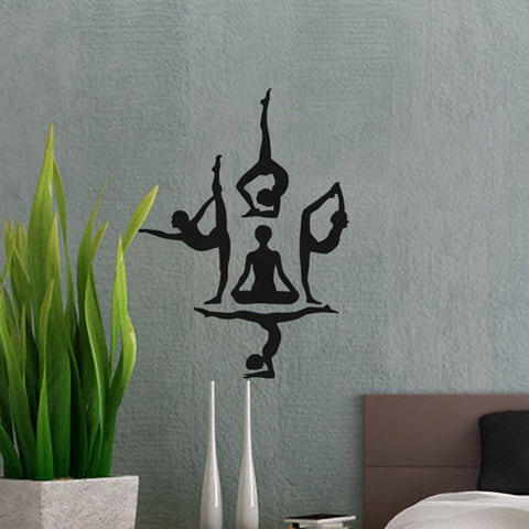 yoga poseswall design for your home / exercise room  the