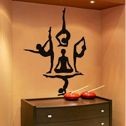 Yoga Poses-Wall Design For Your Home / Exercise Room