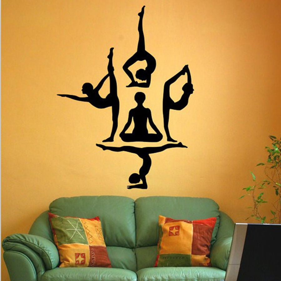 Yoga Poses Wall Design For Your Home Exercise Room The