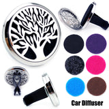 Tree of Life  Aromatherapy Diffuser Magnet for Cars with 6 Free Pads