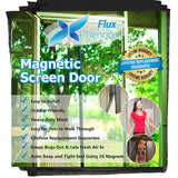 Reinforced Magnetic Screen Door, Fits Door Up To 38 x 82-Inch