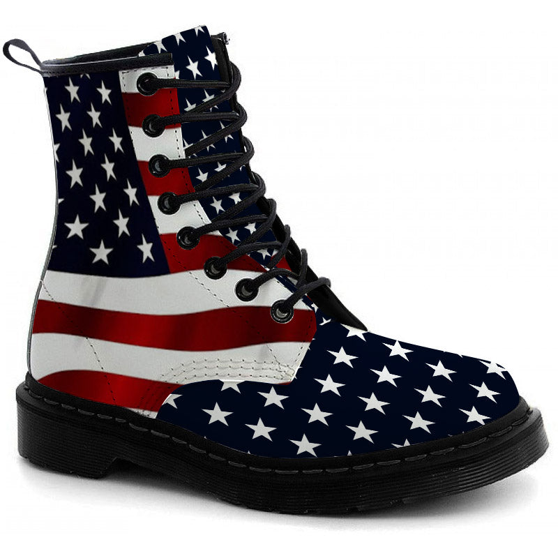 USA Flag Boots - CustomKiks Shoes