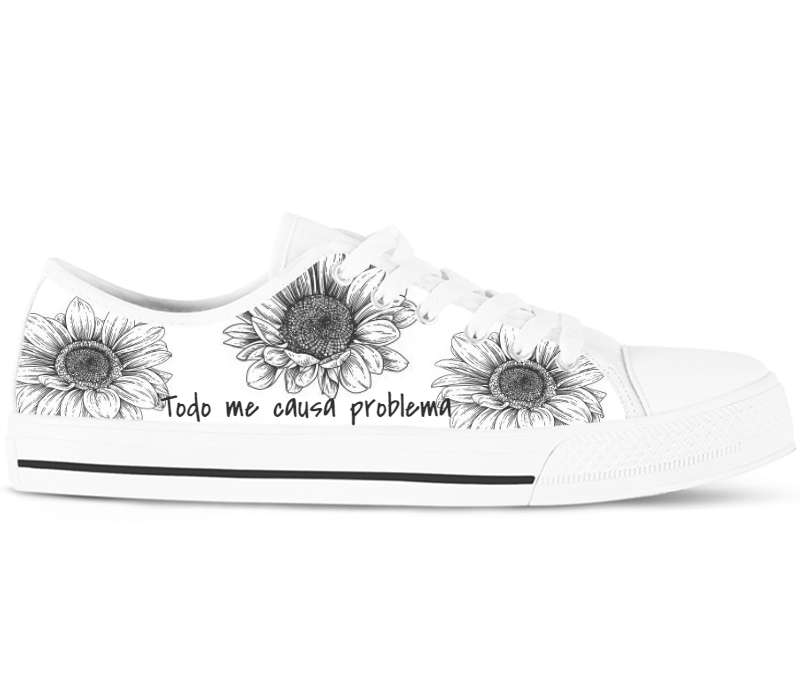 Design Your Own - White Low Tops