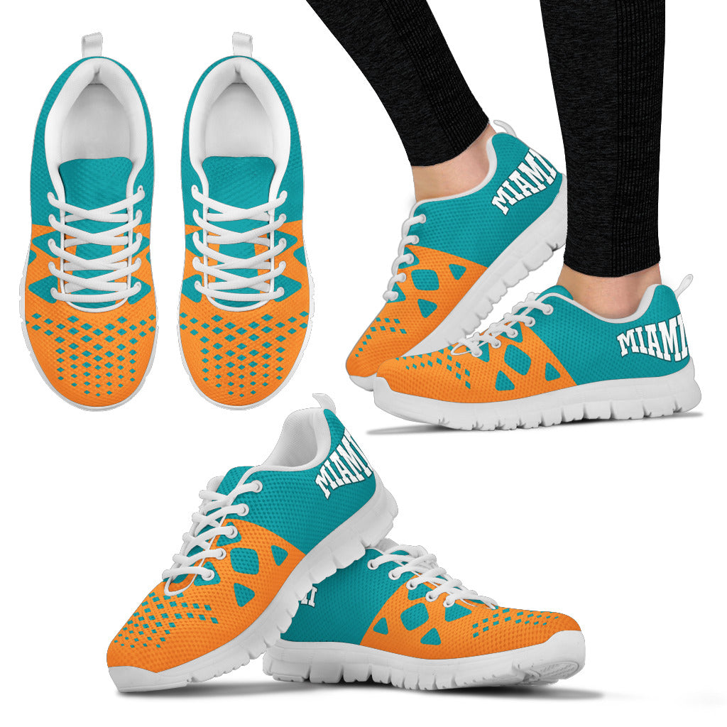 Miami Dolphins Sneakers – CustomKiks.com