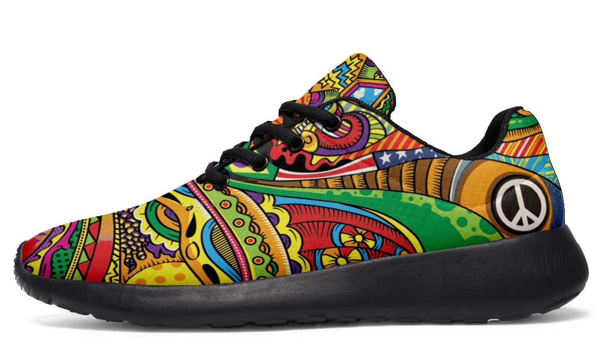 Peace of Color Hippie Sneakers - Black Soles