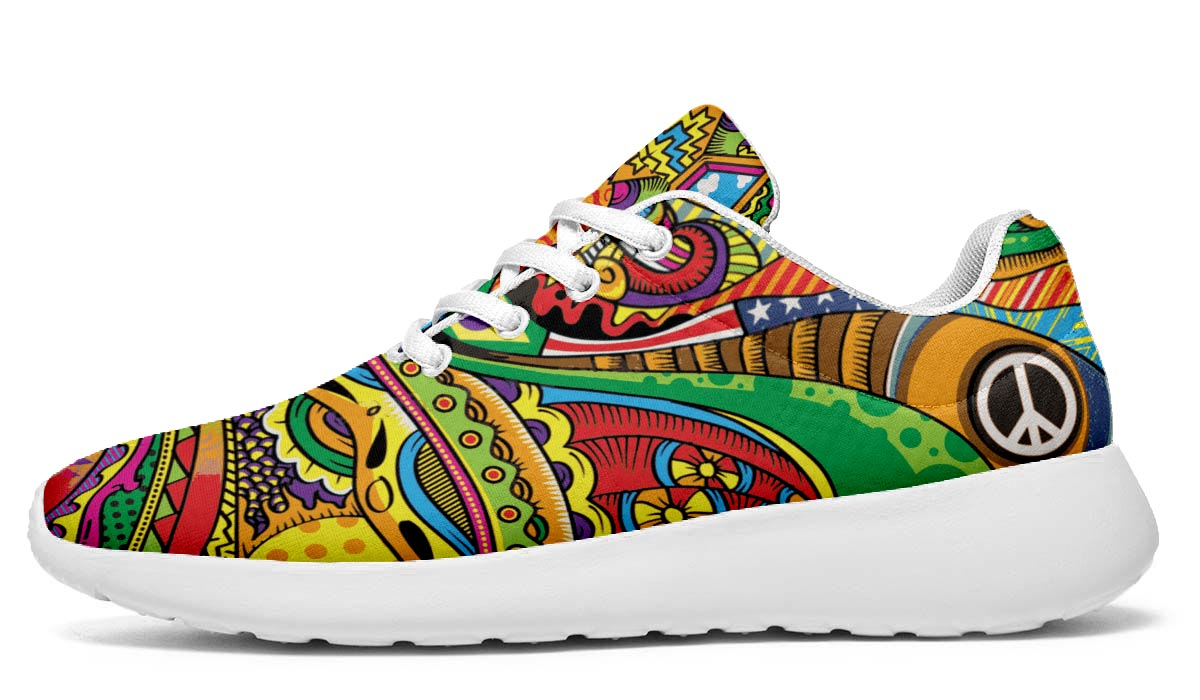 Peace of Color Hippie Sneakers - White Soles