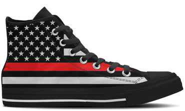 The Thin Red Line - CustomKiks Shoes