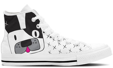 Frenchie White - CustomKiks Shoes