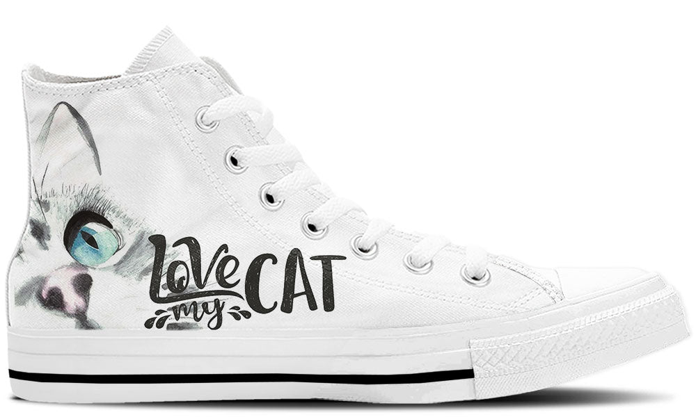 Love My Cat - CustomKiks Shoes