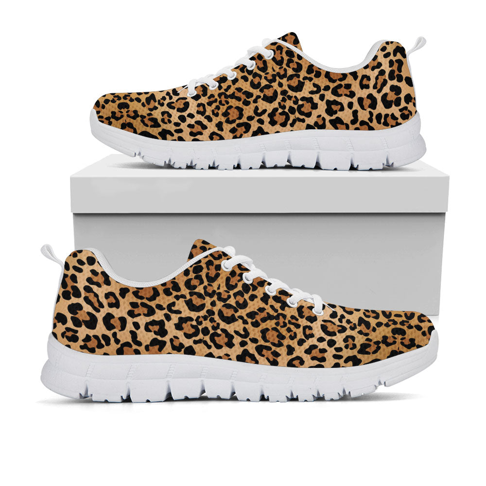 Leopard Print Sneakers - CustomKiks Shoes