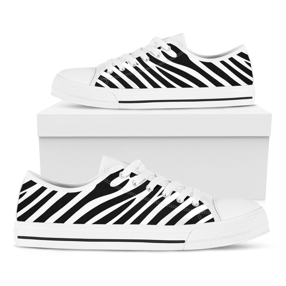 Zebra Print Casual Shoes - CustomKiks Shoes