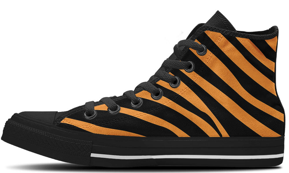 Tiger Stripes High Tops - CustomKiks Shoes